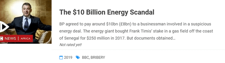 10 billion Energy Scandal